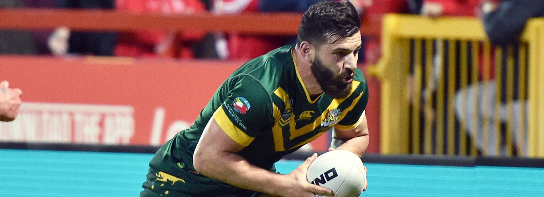 Josh Mansour crossed for two tries against Scotland in the opening game of the 2016 Four Nations.