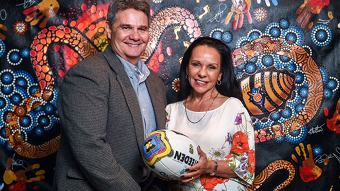 ARL Indigenous Council members Mal Cochrane and The Hon. Linda Burney MP.