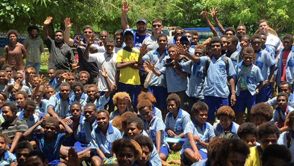 Members of the rugby league community have recently visited PNG to deliver a unique project in New Ireland Province.