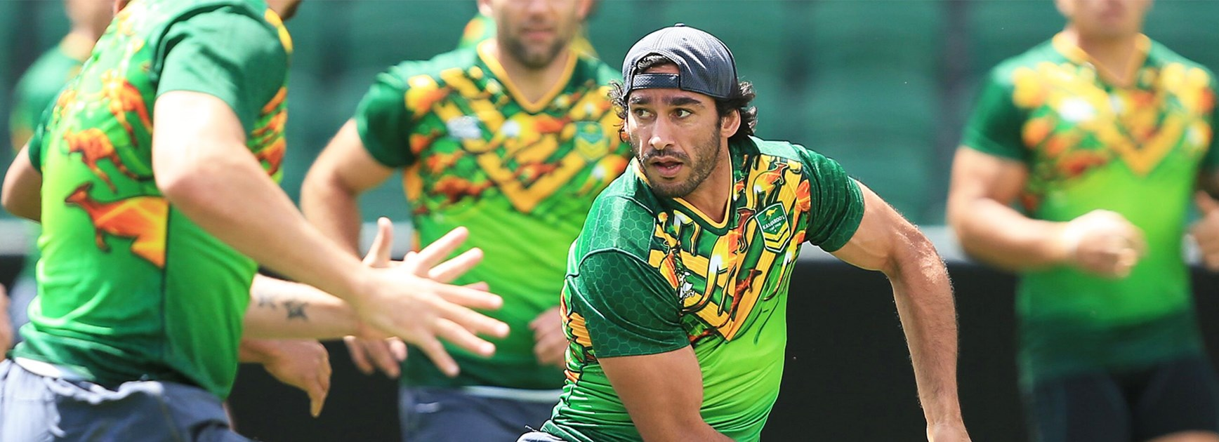 Johnathan Thurston at training with the Kangaroos.