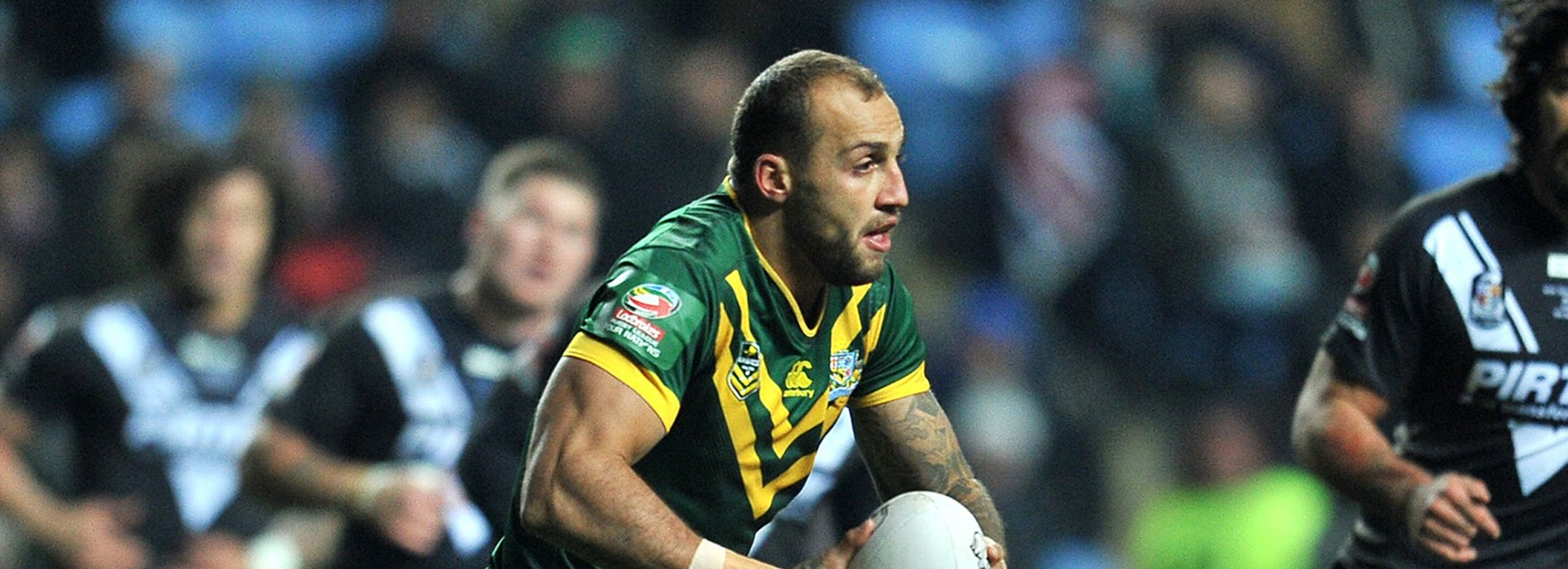 Kangaroos winger Blake Ferguson was named Man of the Match against the Kiwis in Coventry.