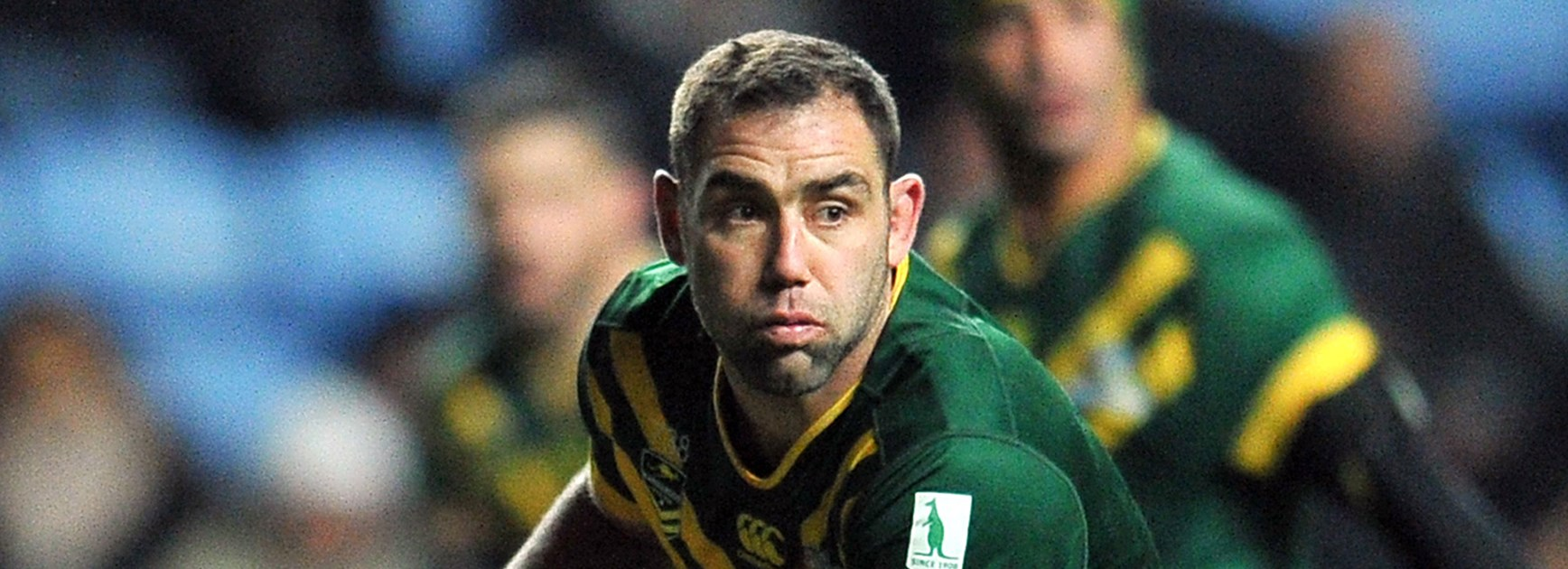 Kangaroos captain Cameron Smith in action against the Kiwis in the Four Nations in Coventry.