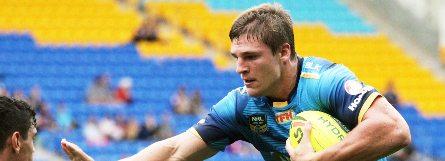 Panthers recruit Jed Cartwright during his time with the Titans' NYC team.
