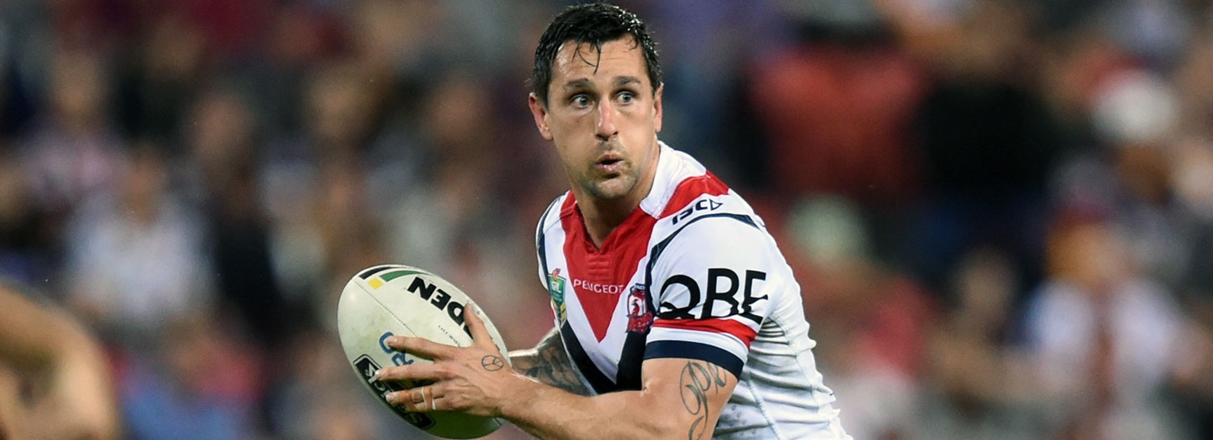 Roosters halfback Mitchell Pearce against the Broncos in Round 26.