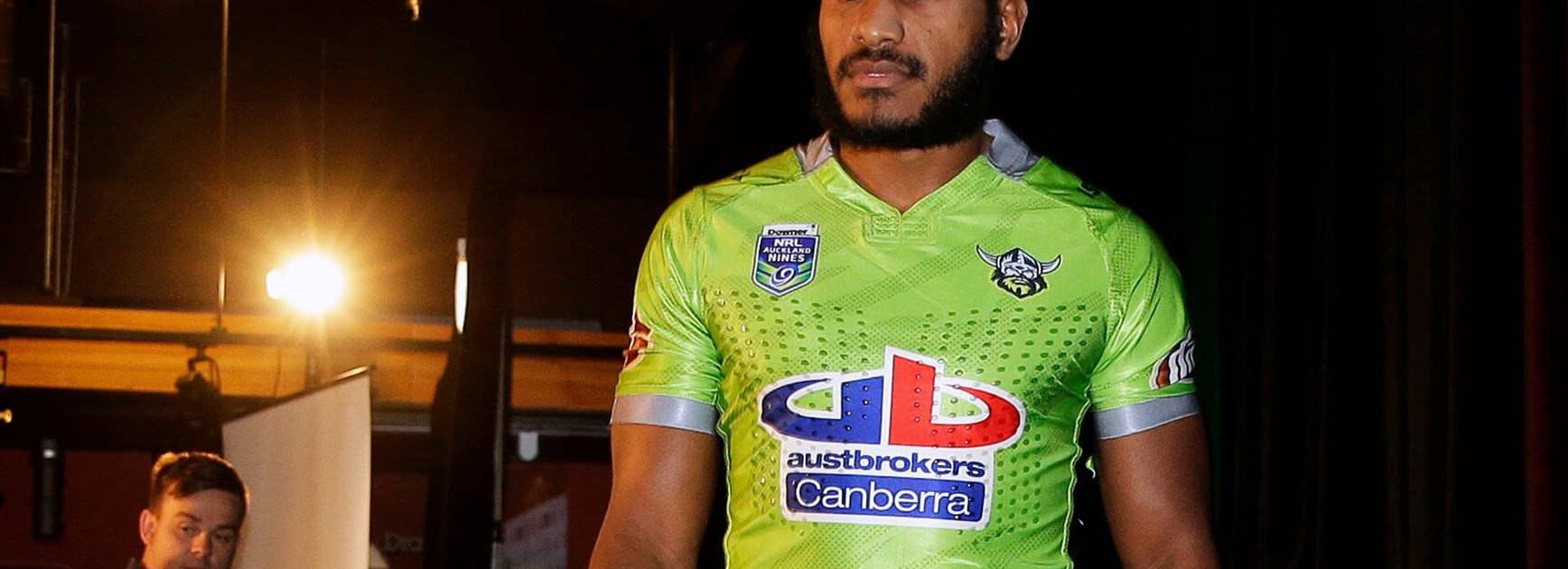 Raiders winger Kato Ottio at the launch of the 2017 NRL Downer Auckland Nines.