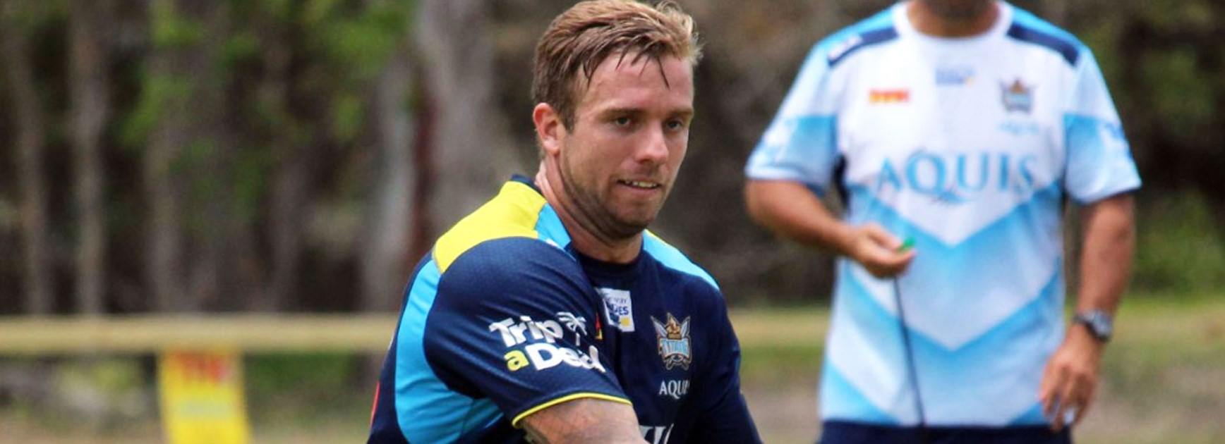 Titans playmaker Kane Elgey in pre-season training.
