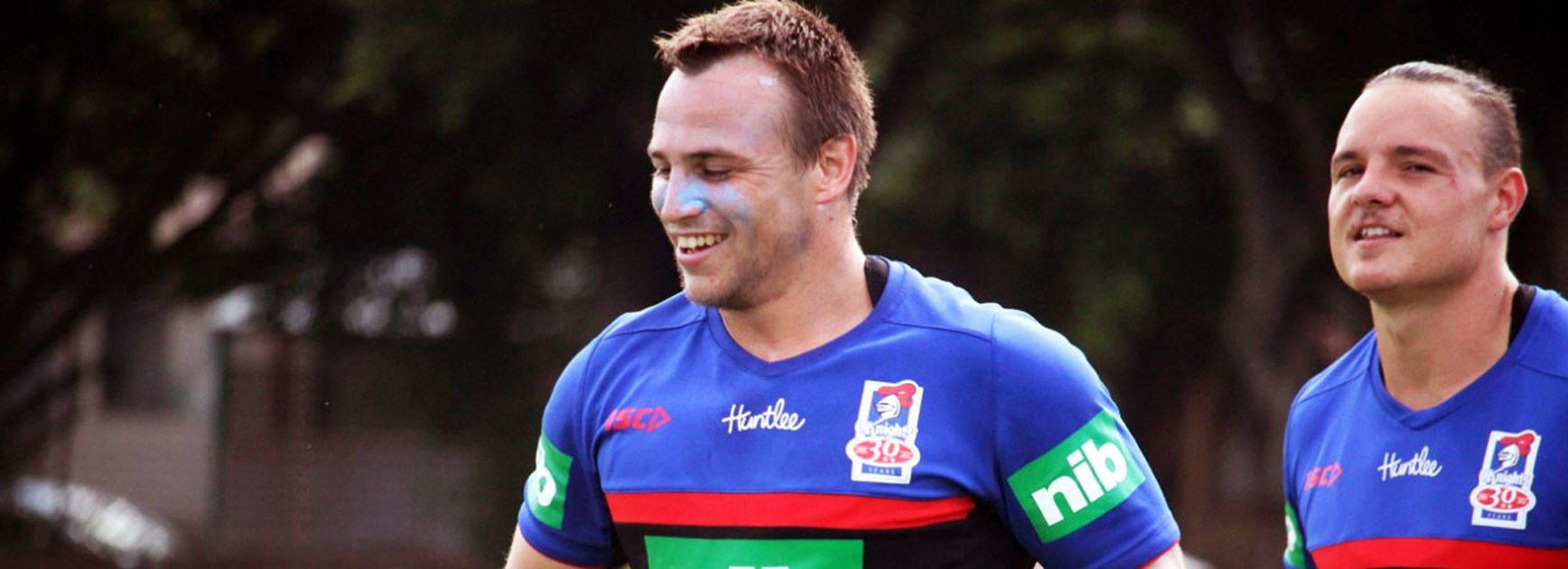 Knights recruit Jamie Buhrer at pre-season training.