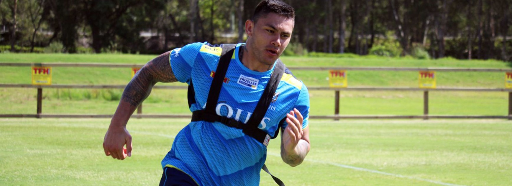 Titans recruit Daniel Vidot in pre-season training.