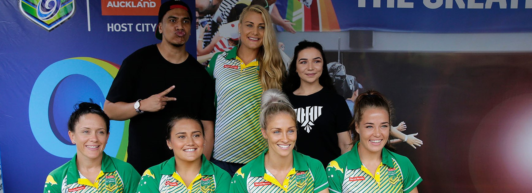 The Jillaroos have some fun at the Downer NRL Auckland Nines fan day.