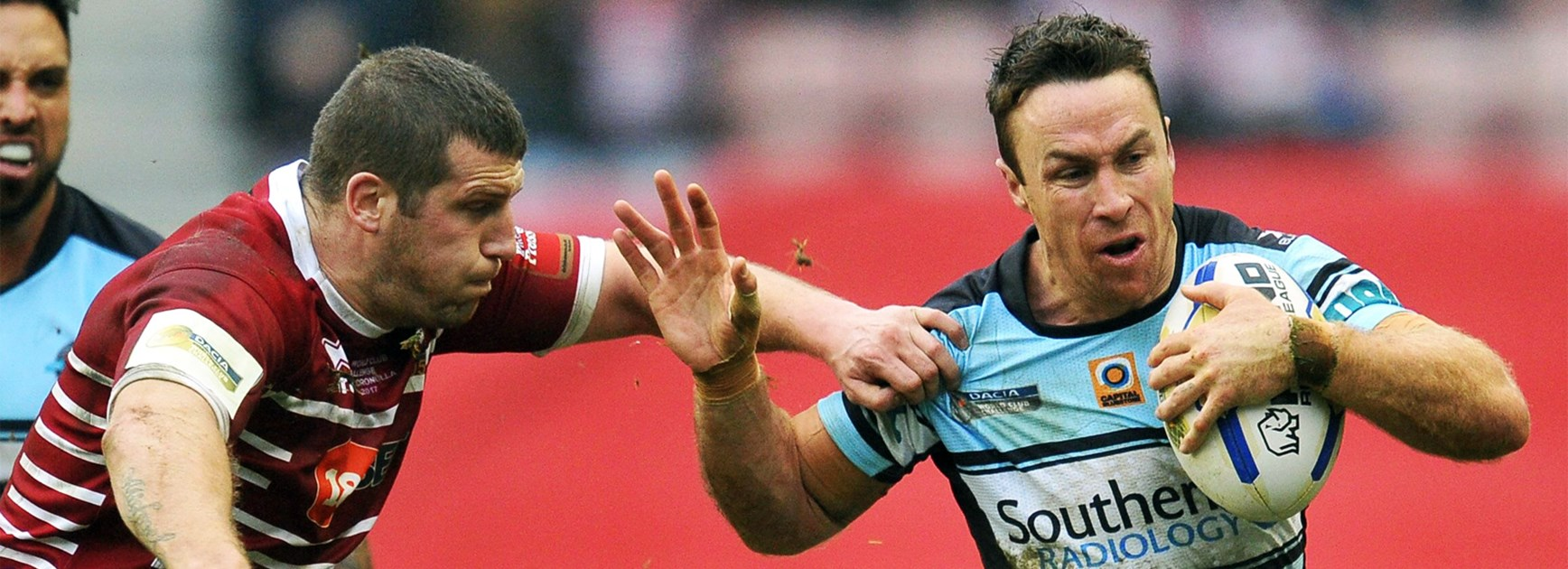 James Maloney takes a run for Cronulla in the World Club Challenge.