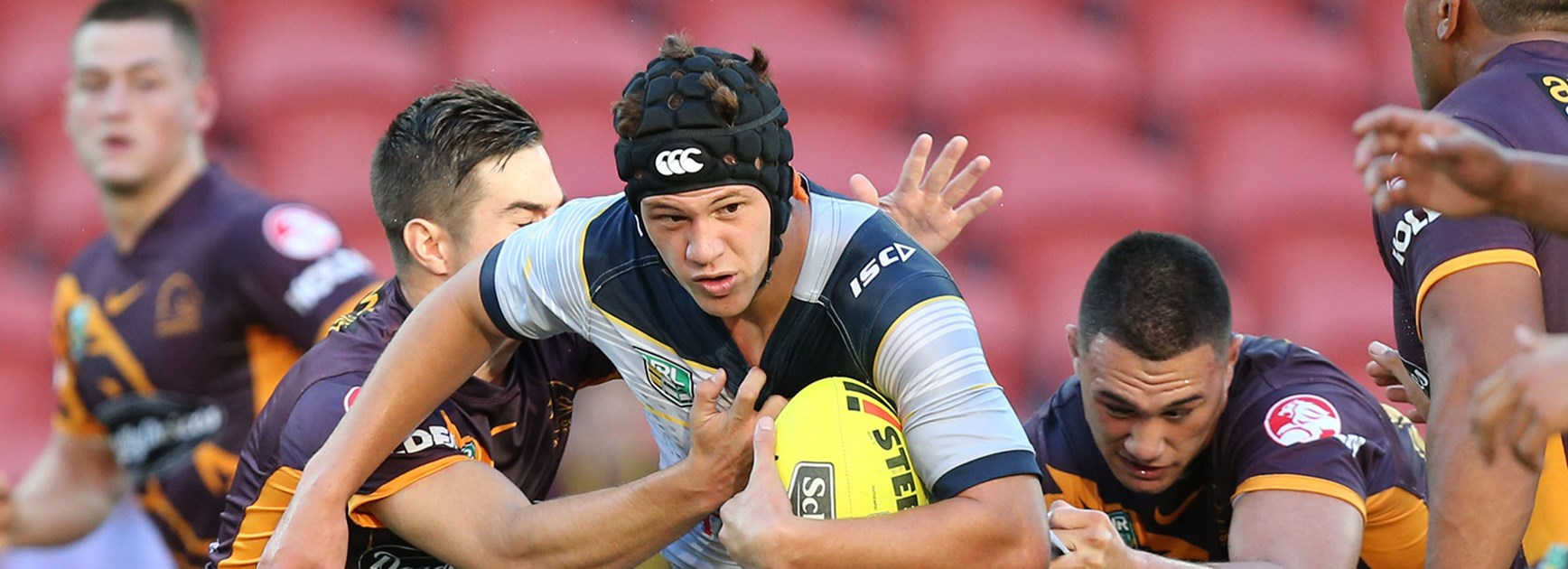 North Queensland Cowboys youngster Kalyn Ponga in action in the NYC against Brisbane Broncos.