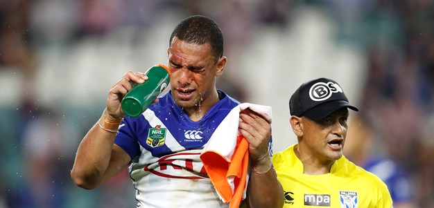 Hopoate hospitalised after head clash