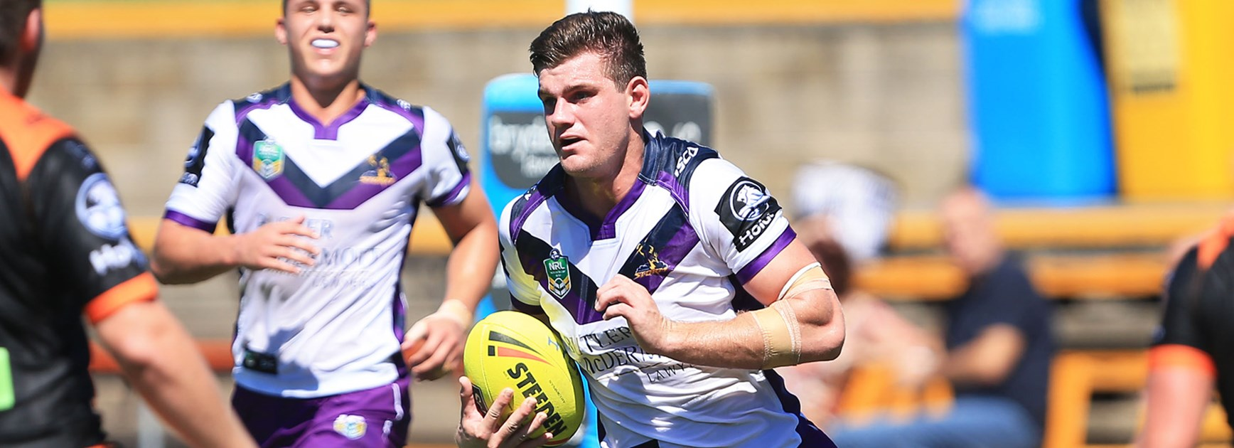 Beau Fermor in action for the Melbourne Storm Holden Cup side.
