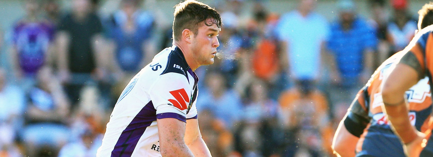 Storm forward Joe Stimson against Wests Tigers in Round 4.