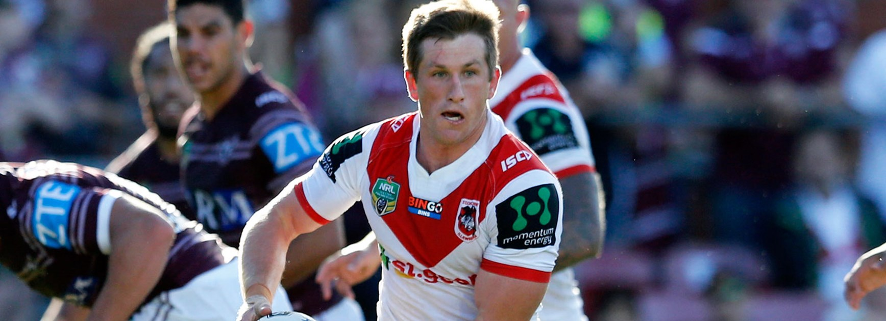 Dragons halfback Josh McCrone against the Sea Eagles.