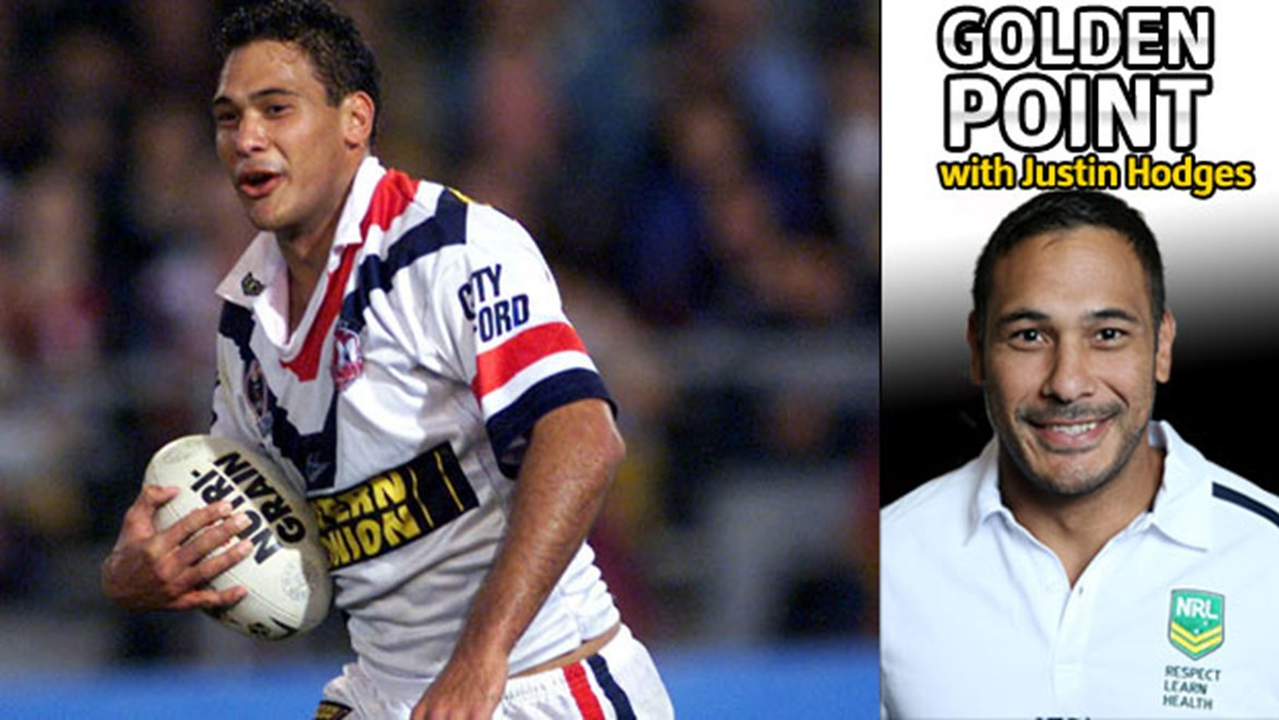 Justin Hodges moved to the Roosters before returning to the Broncos later in his NRL career.