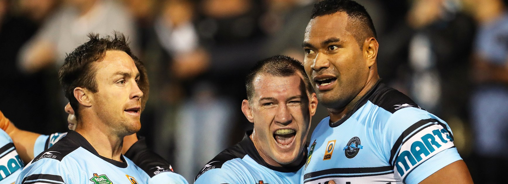 Tony Williams scored in his first start for the Cronulla Sharks.