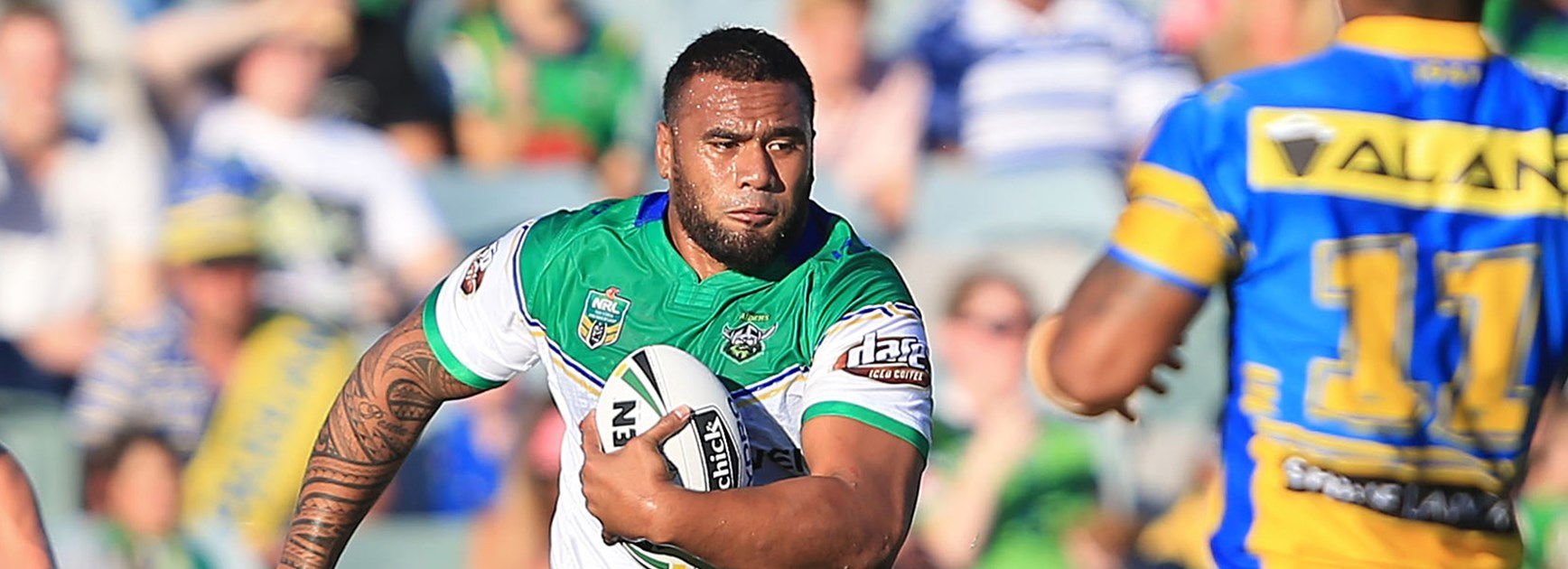 Canberra Raiders prop Junior Paulo.