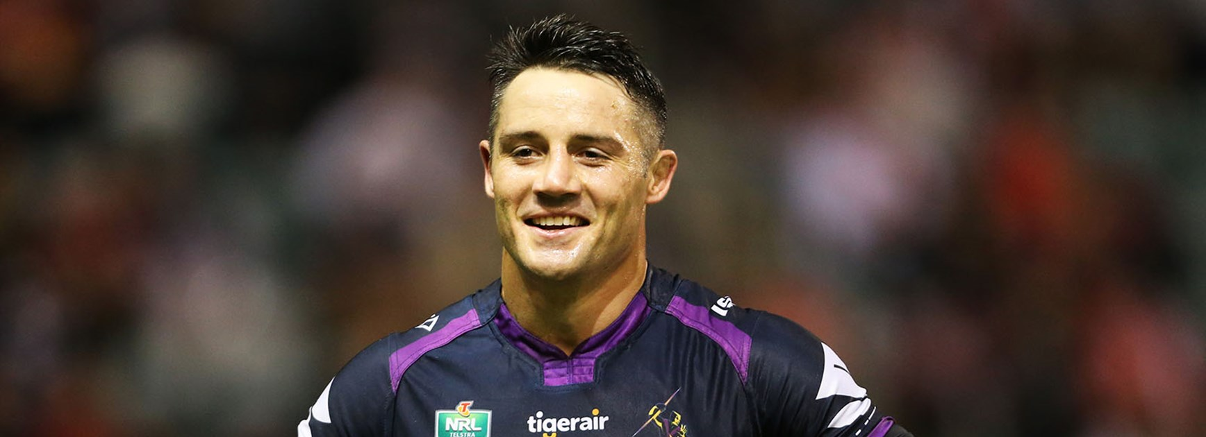 Cooper Cronk all smiles despite being sent to the sin-bin.