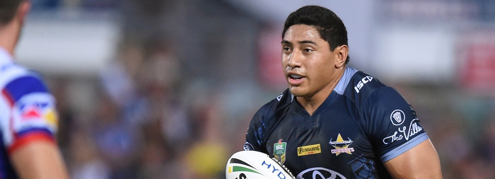 Cowboys lock Jason Taumalolo in action against Newcastle.