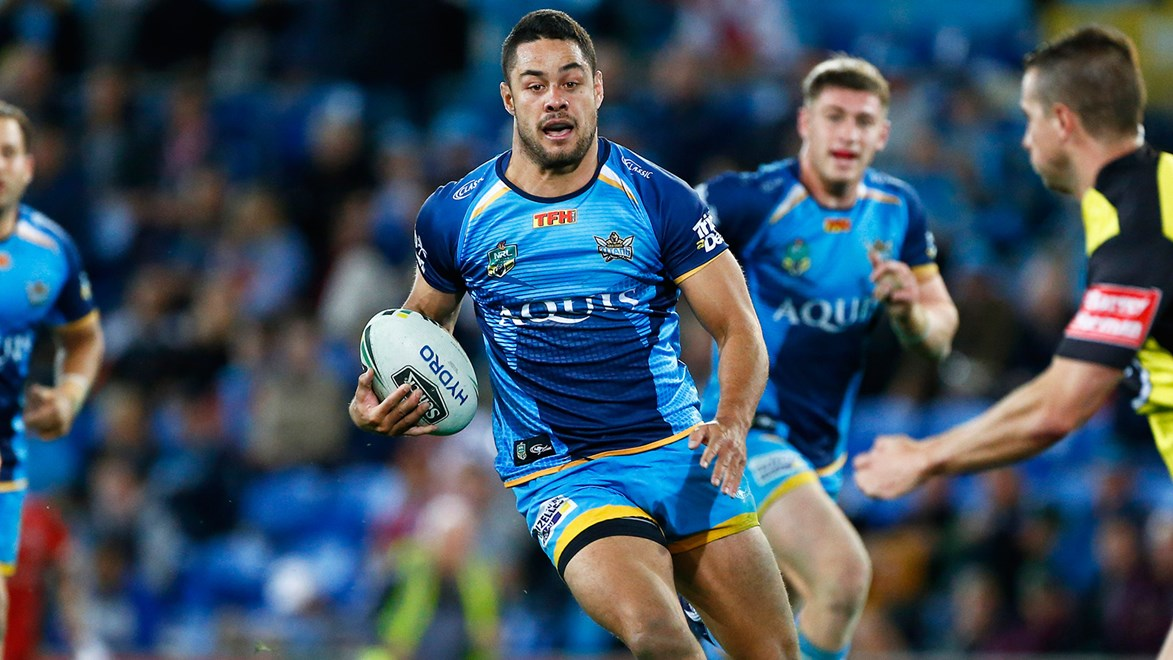 Jarryd Hayne in action against the Dragons.
