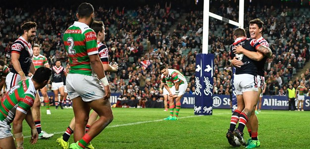 Roosters hang on against Souths in thriller