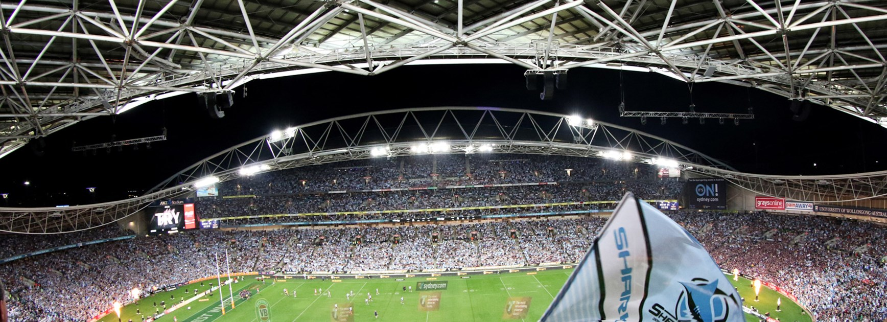 The crowd at the 2016 NRL Grand Final.
