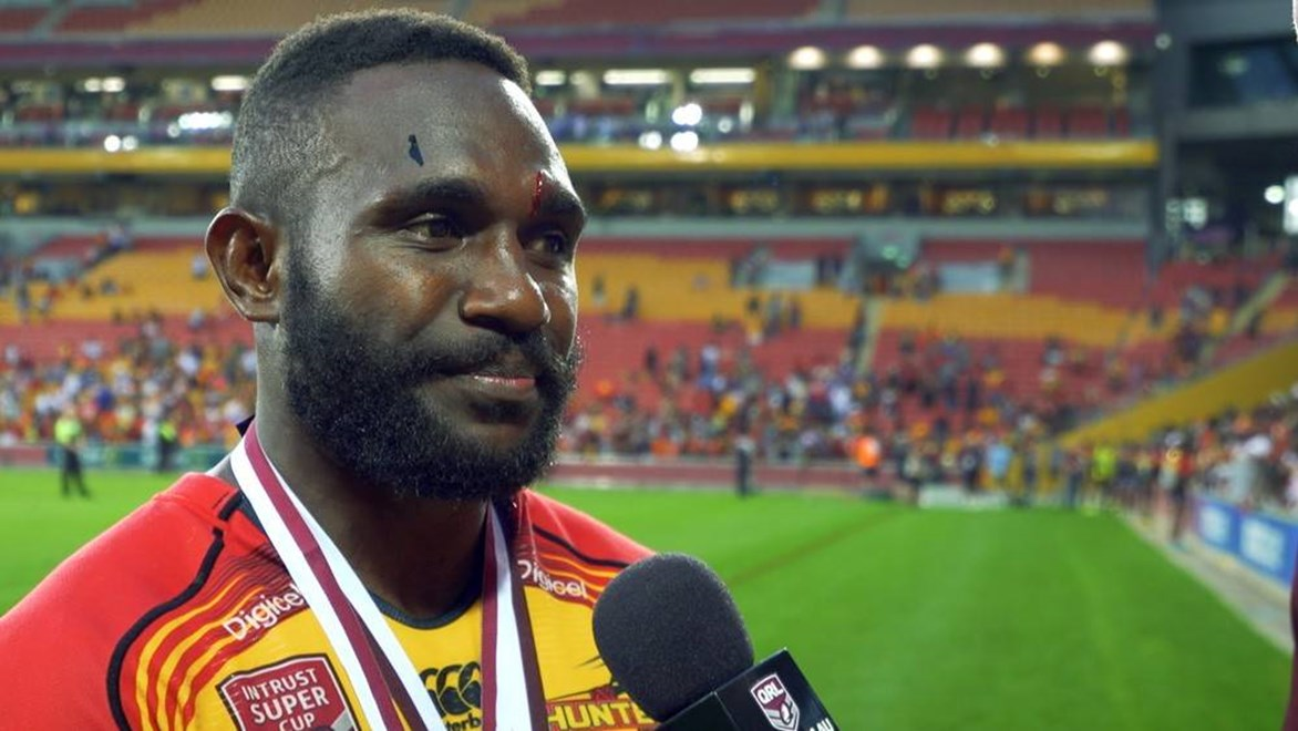 PNG Hunters grand final hero Ase Boas.