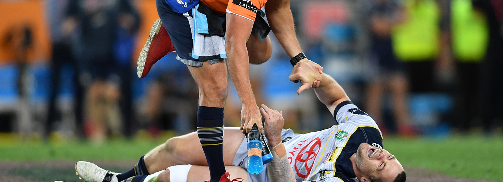 Cowboys forward Shaun Fensom was injured early in the 2017 NRL Grand Final.