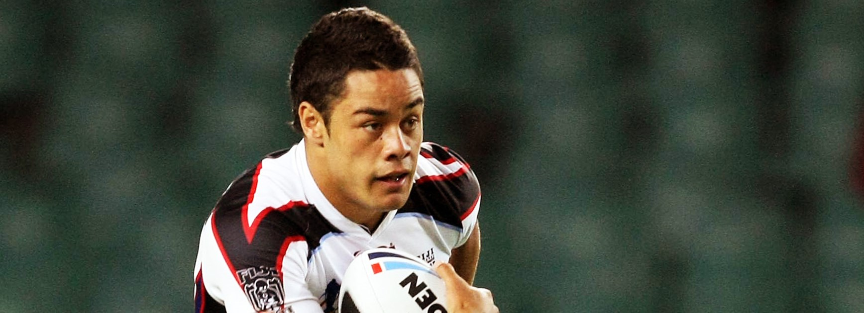 Jarryd Hayne in action for Fiji in 2008.