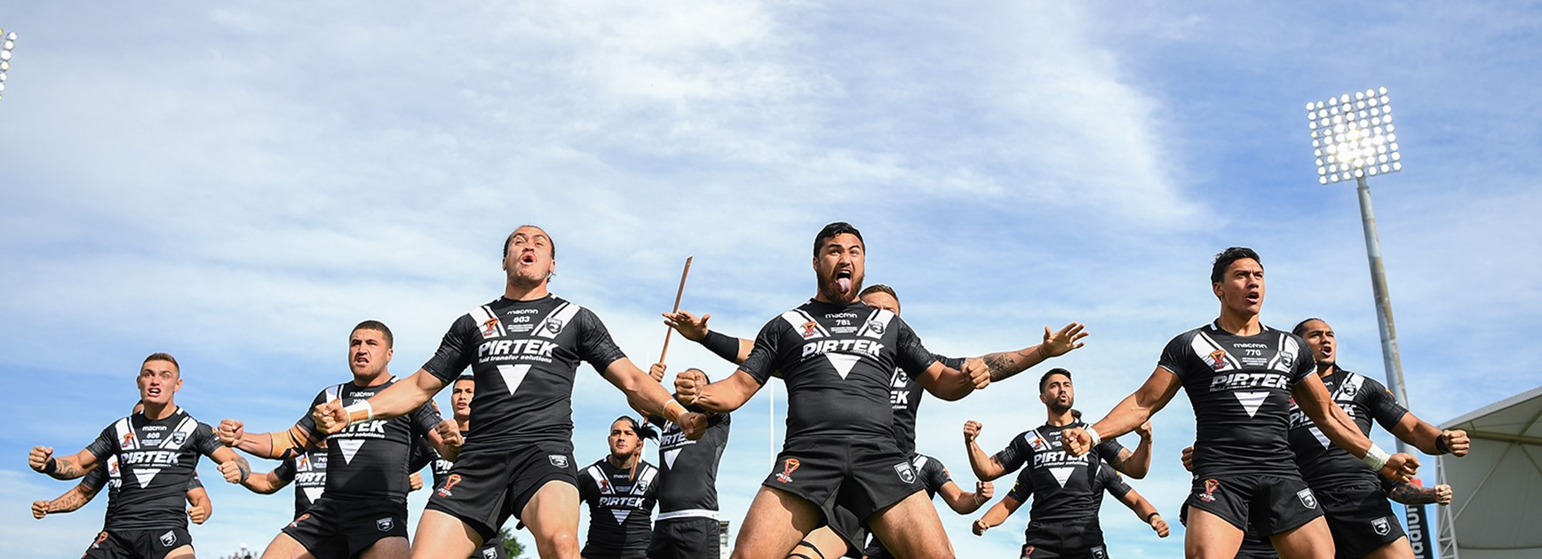 New Zealand perform the Haka ahead of their World Cup clash with Scotland in Christchurch.