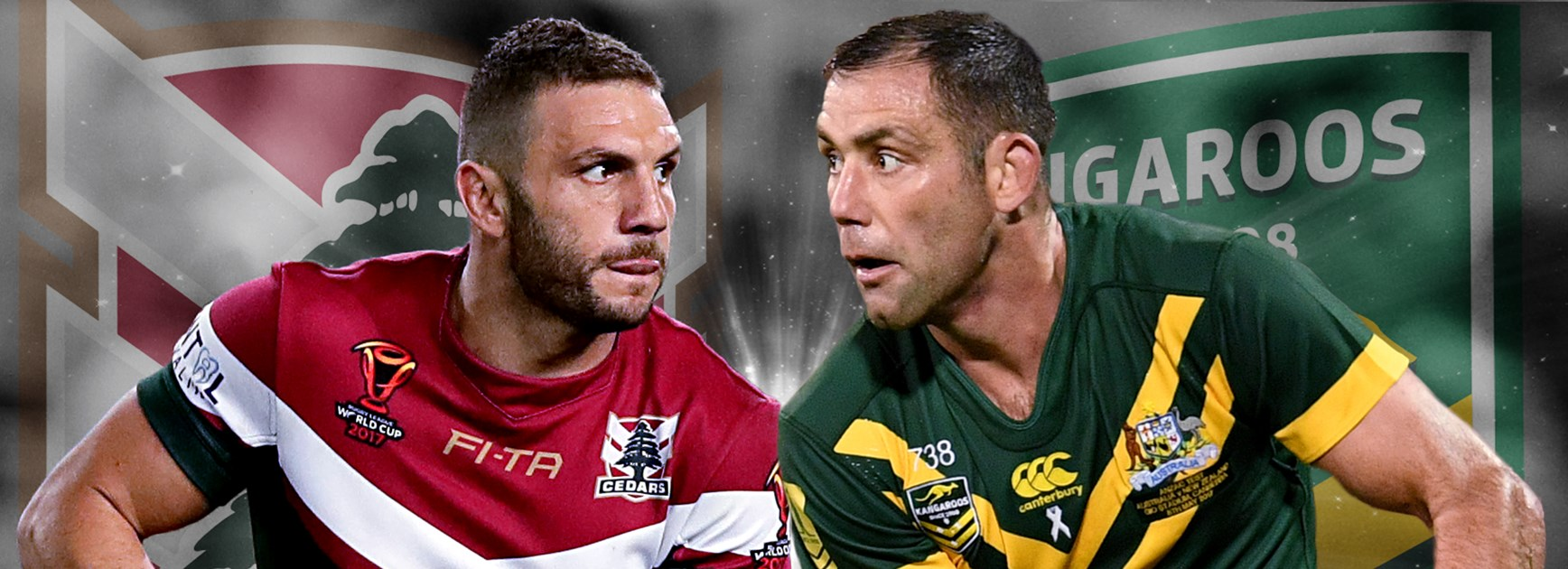 Lebanon's Robbie Farah will lead his nation against Cameron Smith's Kangaroos.