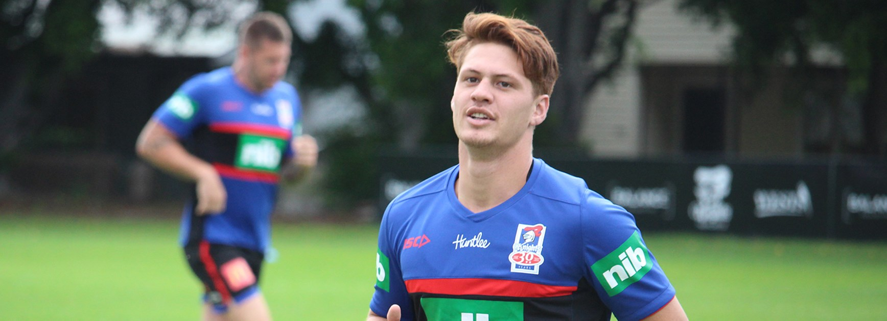 Newcastle Knights recruit Kalyn Ponga is settling into new surrounds at pre-season training.