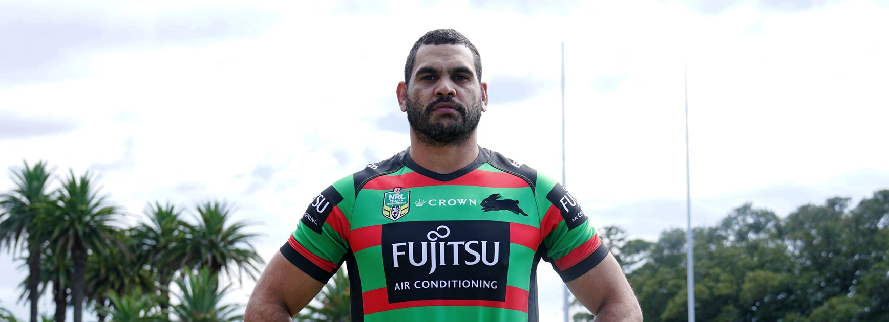 Greg Inglis at the Rabbitohs' Redfern training base.
