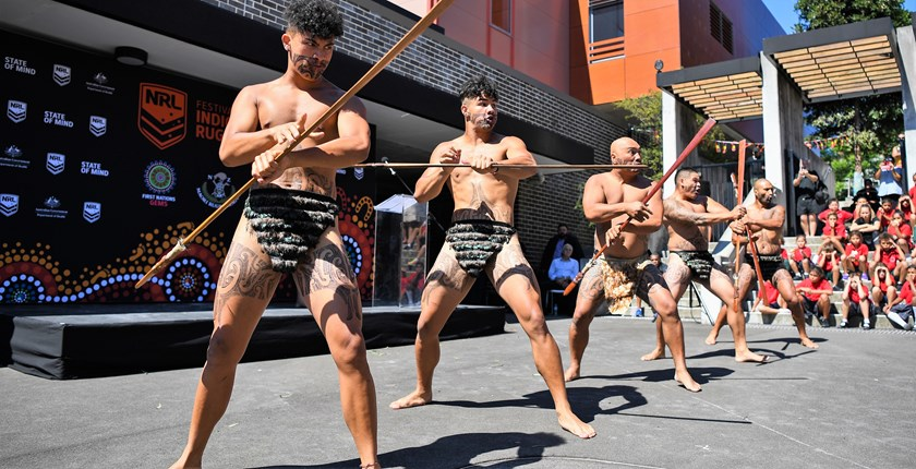The Festival of Indigenous Rugby League welcoming ceremony.