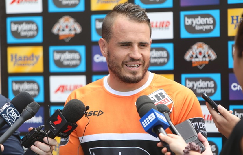 New Wests Tigers five-eighth Josh Reynolds.
