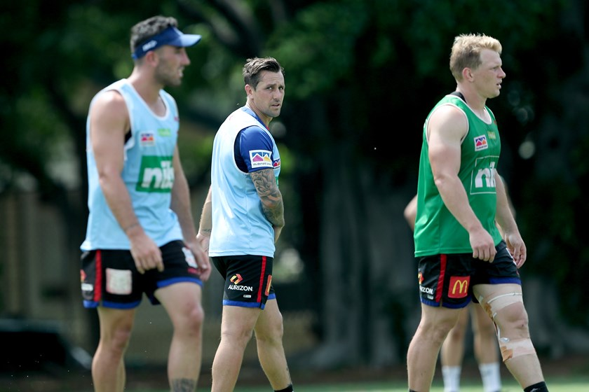 Mitchell Pearce at Newcastle Knights pre-season training.