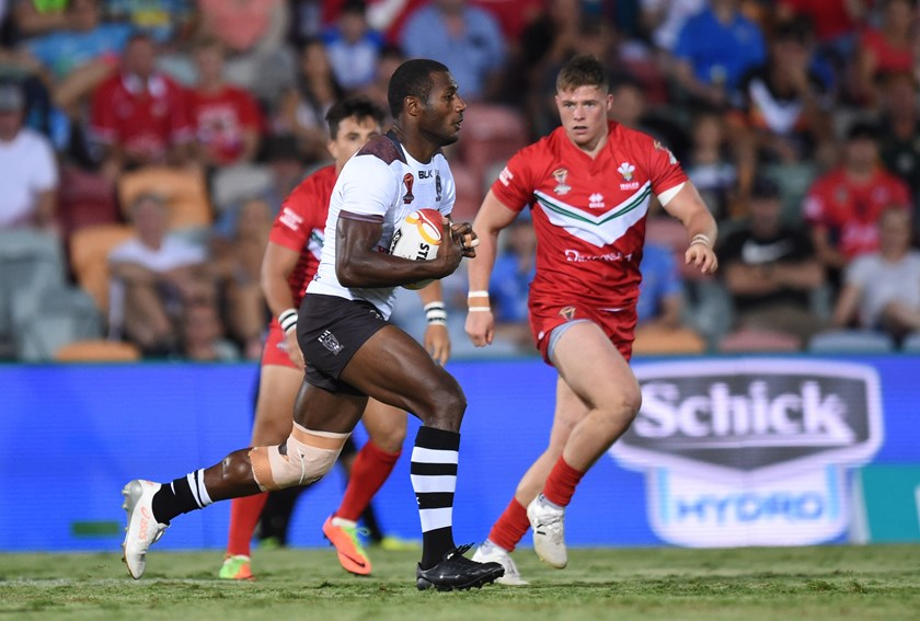 Suliasi Vunivalu on the fly for Fiji.