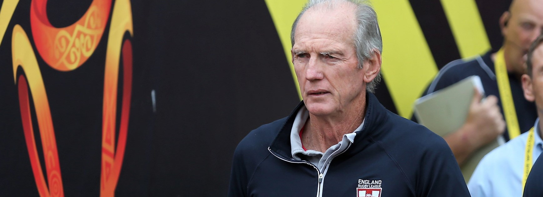 Wayne Bennett during the 2017 World Cup.