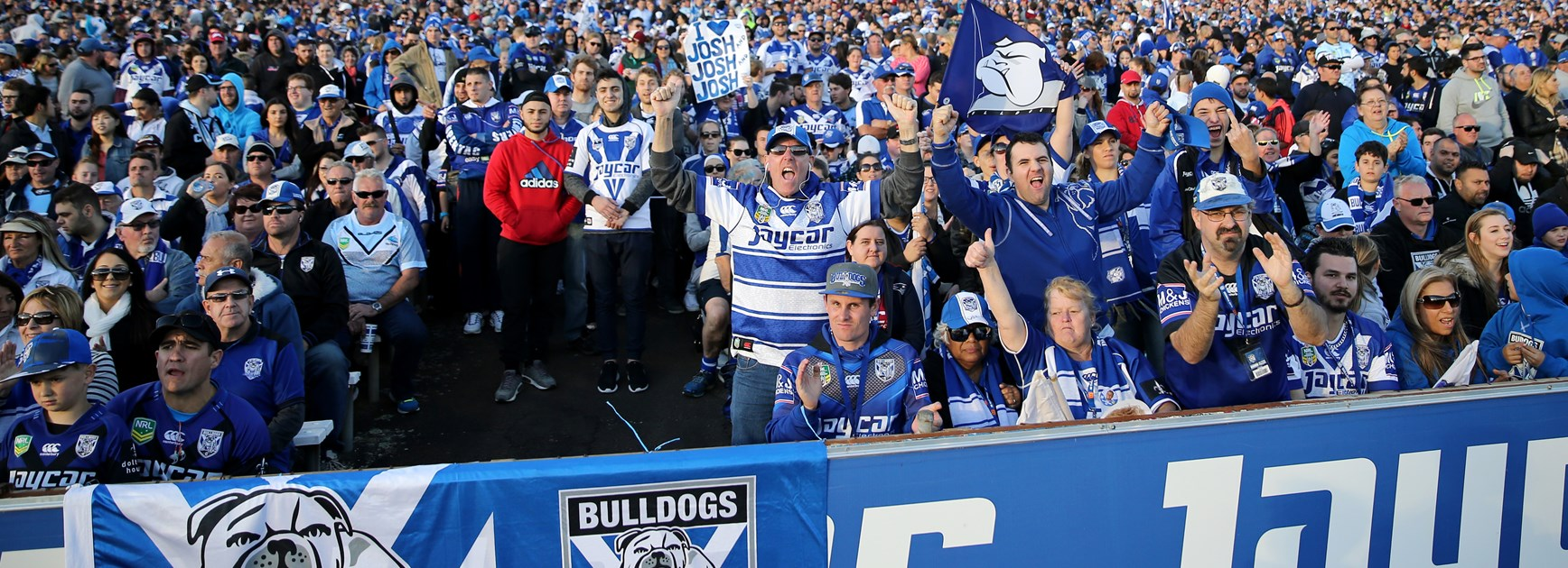 Canterbury fans show their passion at Belmore.