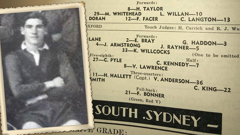 Former South Sydney player Cec King.