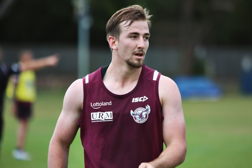 Young Manly five-eighth Lachlan Croker.