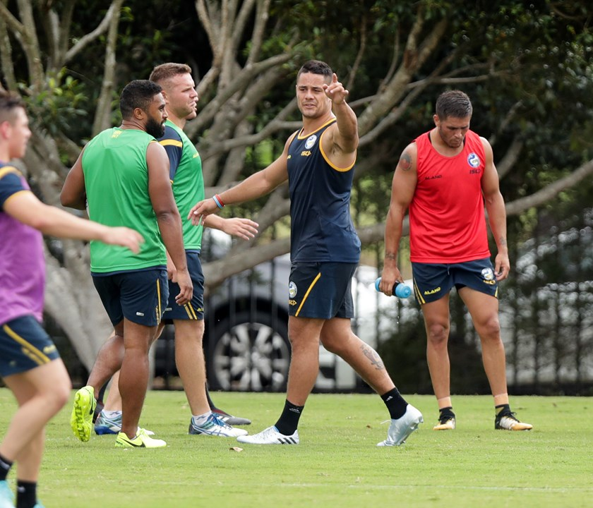 Jarryd Hayne at Eels training.