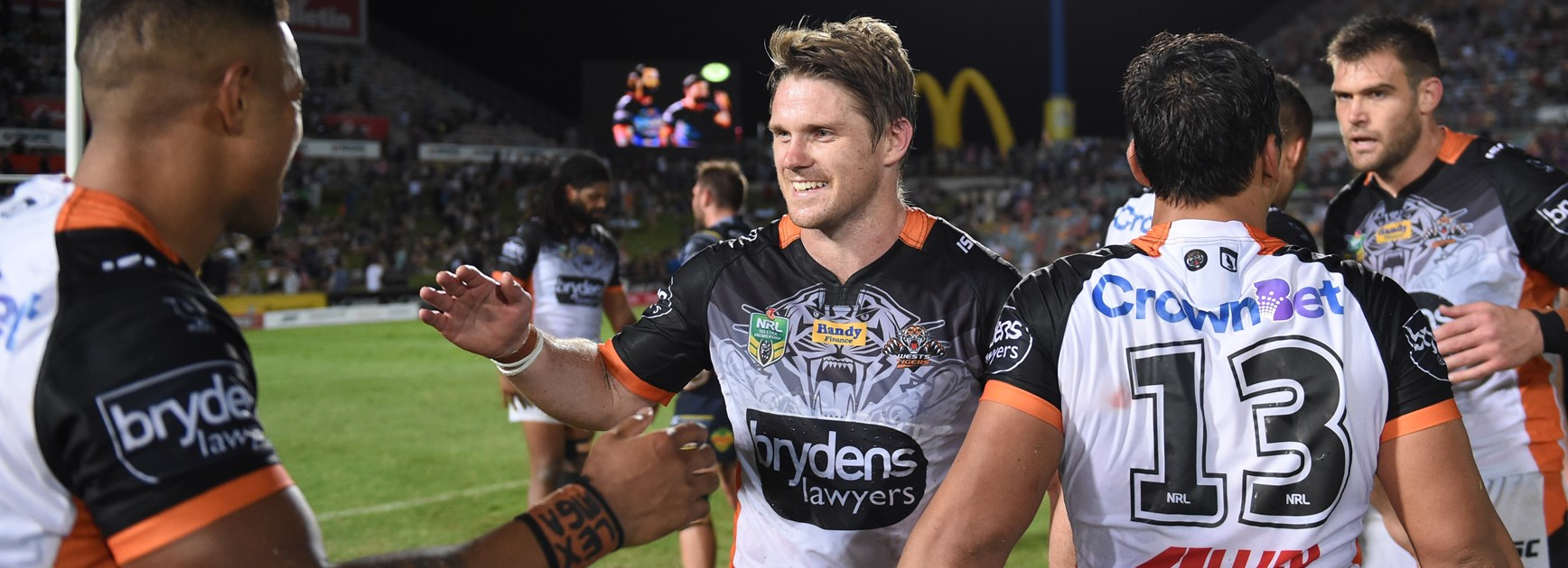 Wests Tigers second-rower Chris Lawrence.