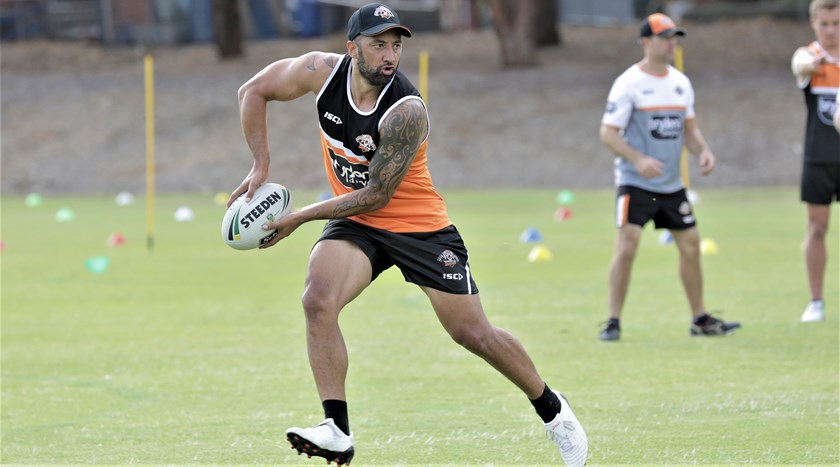 Returning Wests Tigers veteran Benji Marshall.