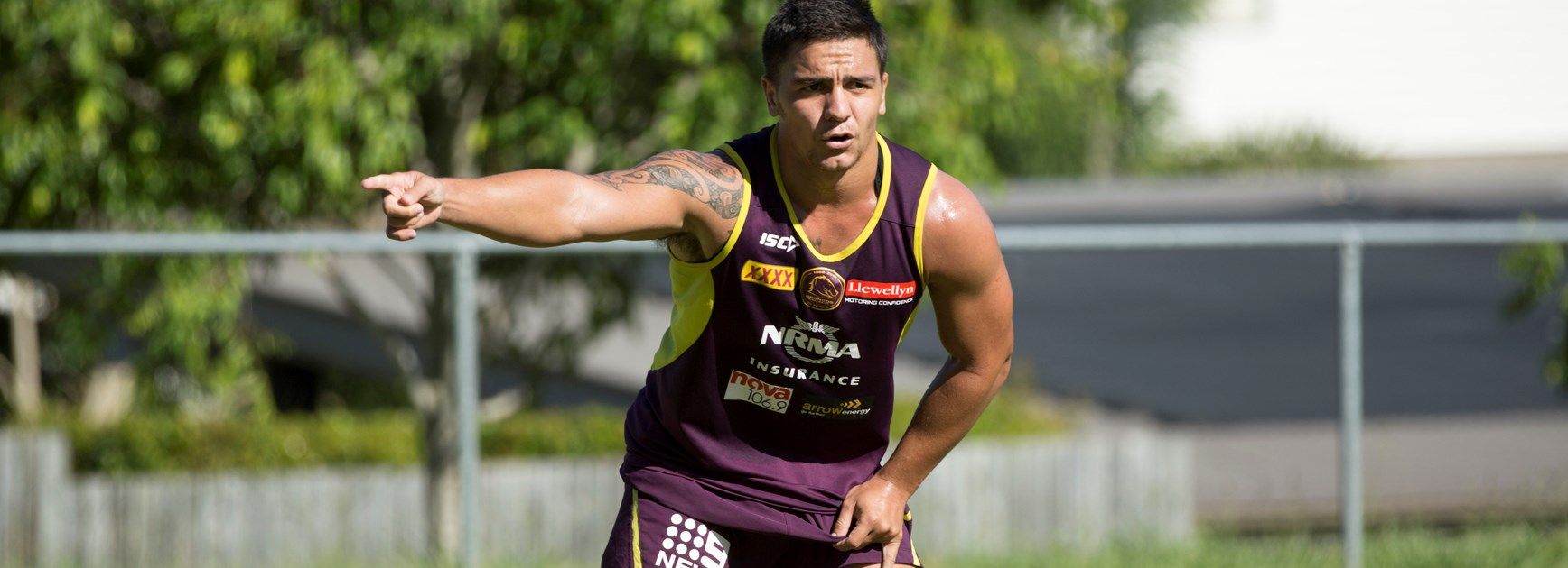 Broncos halfback Kodi Nikorima at pre-season training.