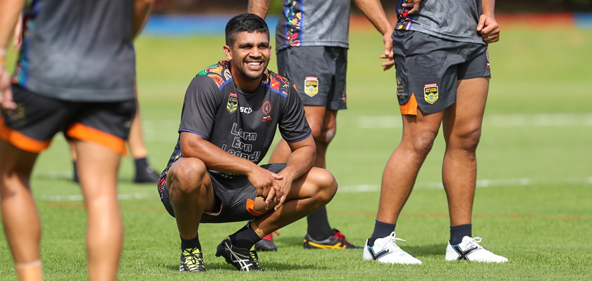 Tyrone Peachey ahead of the 2017 Indigenous All Stars game.