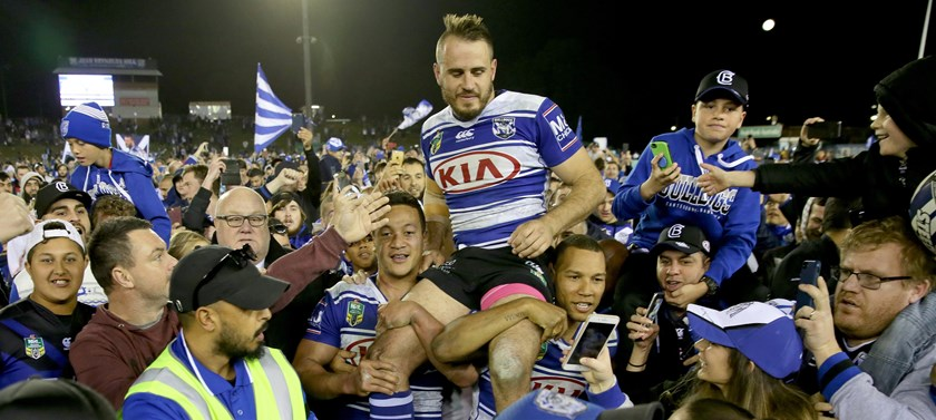 The Bulldogs farewell Josh Reynolds in 2017.