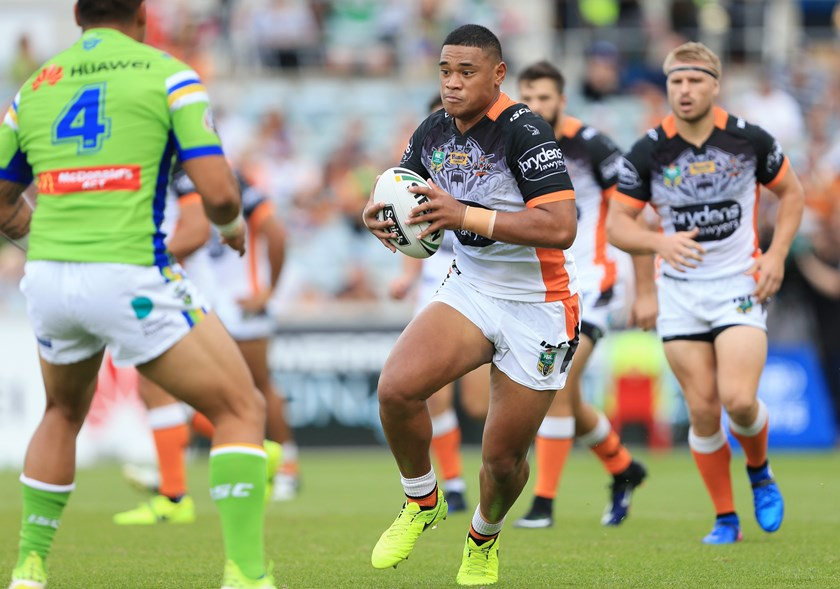 Wests Tigers young gun Moses Suli.
