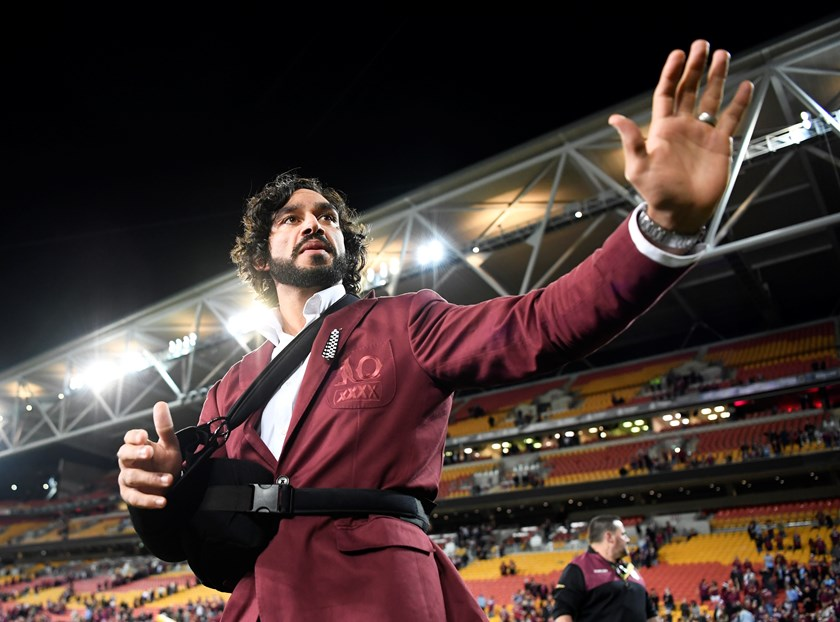 Maroons great Johnathan Thurston is farewelled at Origin level.